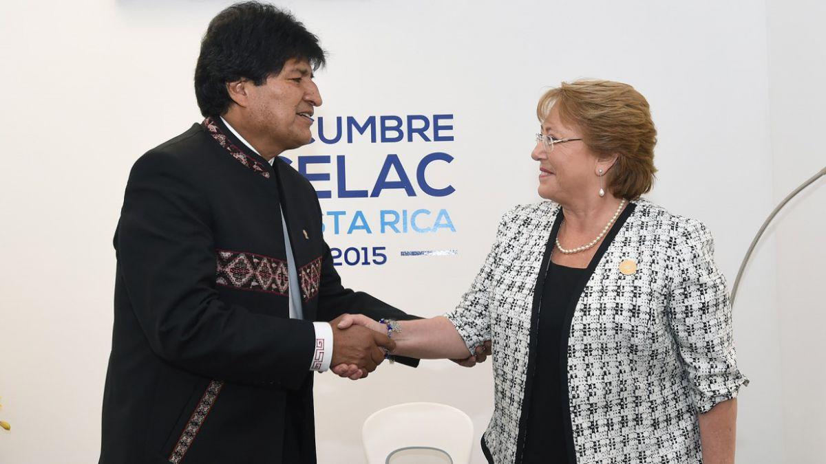 Bachelet y Evo Morales