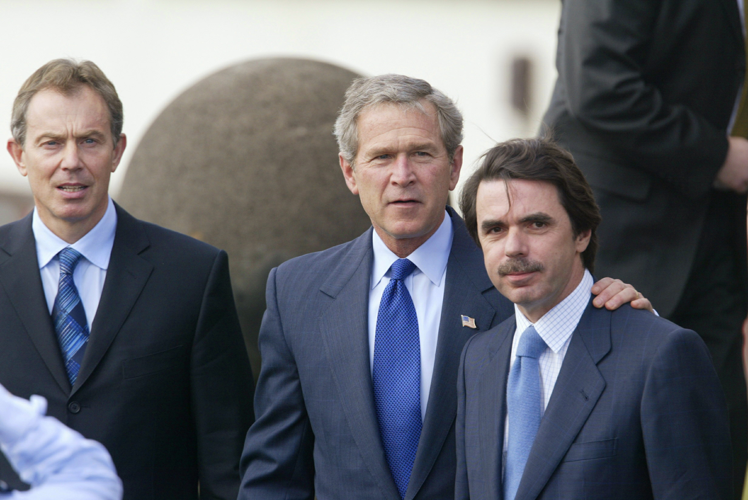 Bush, Blair y Aznar