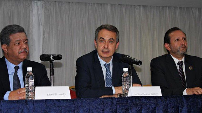José Luis Rodríguez Zapatero y  Leonel Fernández
