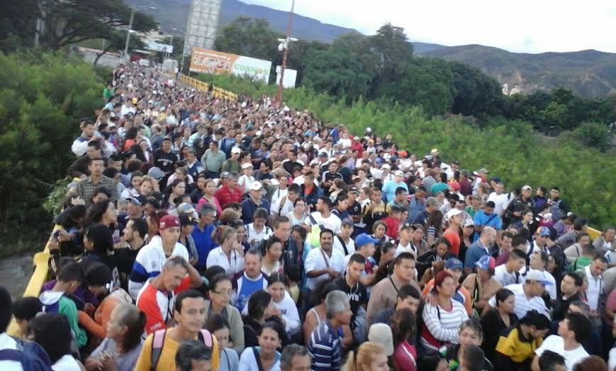 Venezolanos en Cúcuta