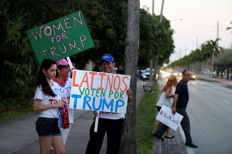 latinos y trump