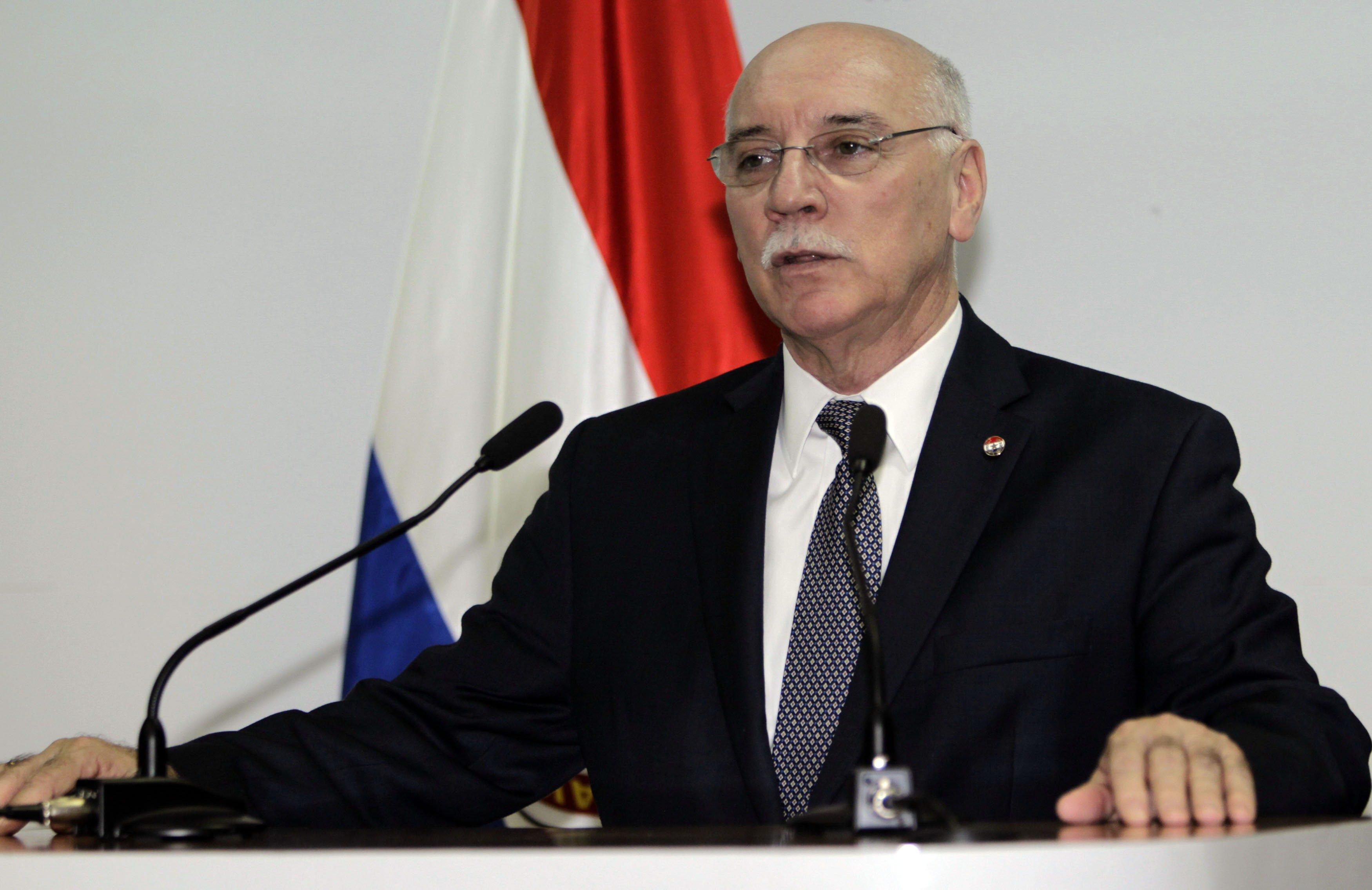 Eladio Loizaga, canciller paraguayo