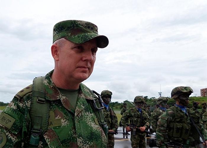 Alberto José Mejía, comandante del Ejército colombiano