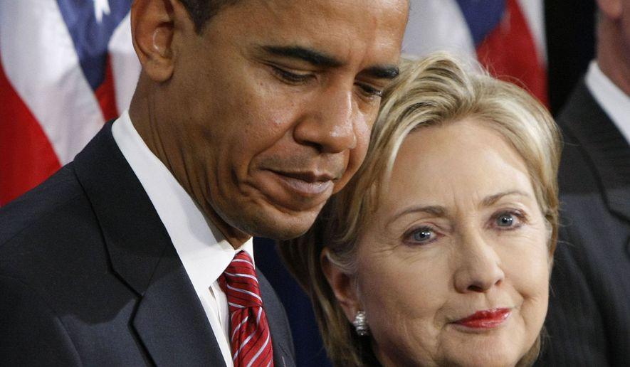 hillary y obama