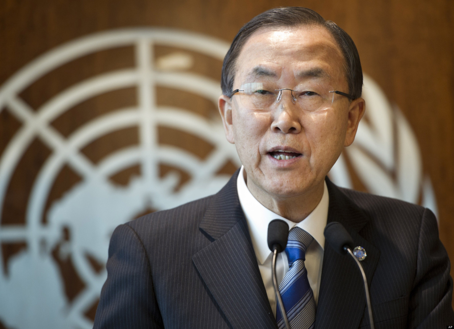United Nations Secretary-General Ban Ki-moon announces Thursday, March 21, 2013, that the United Nations will investigate the possible use of chemical weapons in Syria, at United Nations headquarters. The U.N. chief indicated that the investigation would be broader than the Syrian government's request for an independent probe of an alleged chemical weapons attack on Tuesday, saying he was aware of other allegations and hoped the probe would help secure Syria's chemical weapons stockpile. (AP Photo/Mark Garten)