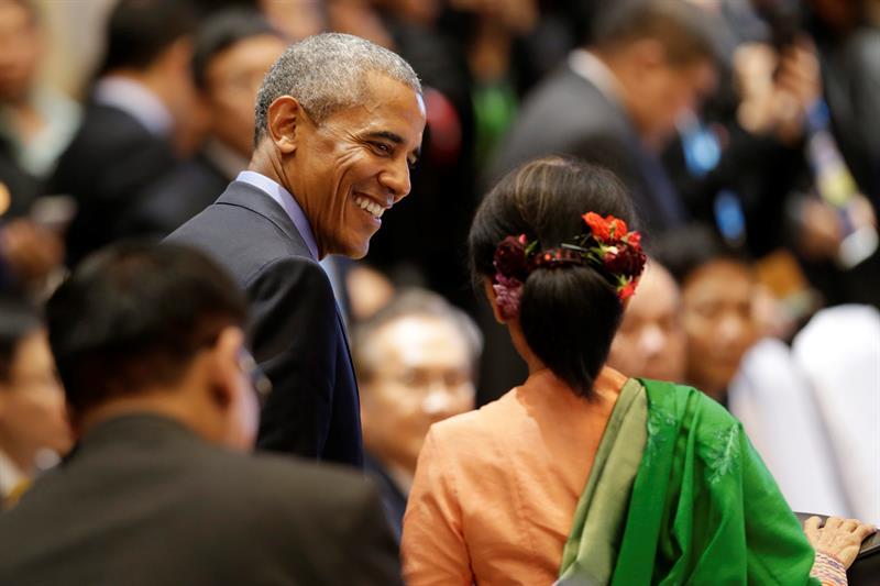 Obama y Aung San Suu Kyi