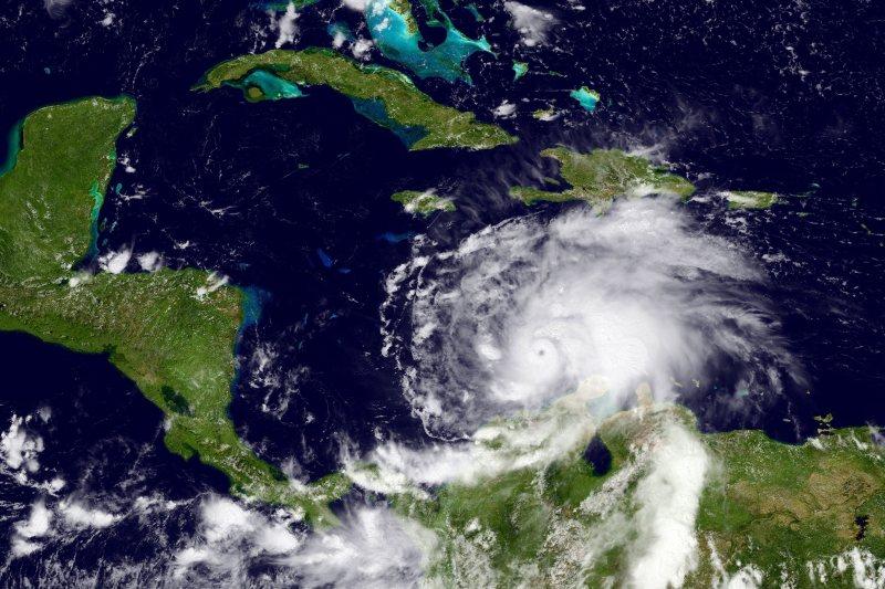 Hurricane Matthew in the Caribbean
