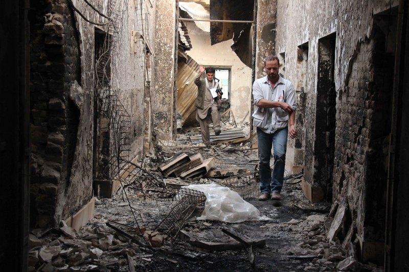 MSF staff inspect destroyed Kunduz hospital after deadly US air strike