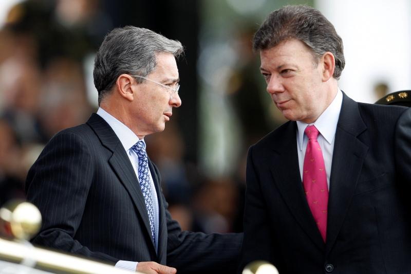 presidentes-colombianos-santos-y-uribe