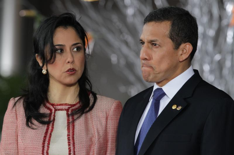 Ollanta Humala junto a su esposa, Nadine Heredia / Foto Archivo