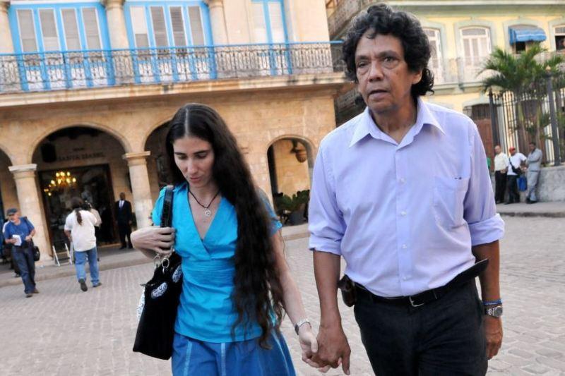 Yoani Sánchez y Reinaldo Escobar