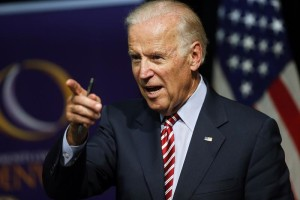 FILE - In this July 21, 2015, file photo, Vice President Joe Biden speaks during a roundtable discussion at the Advanced Manufacturing Center at Community College of Denver. Biden and his wife are retreating from Washington for a week in South Carolina with little on their schedule but a momentous decision to make: whether he should run for president. (AP Photo/Brennan Linsley, File)