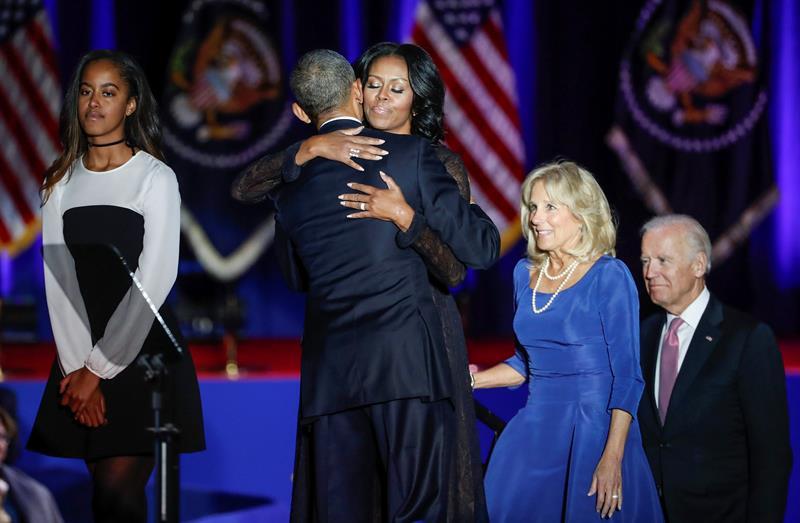 Obama, Michelle, Jon Biden y su esposa
