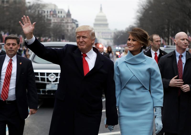 El desfile de honor a los Trump en la Casa Blanca