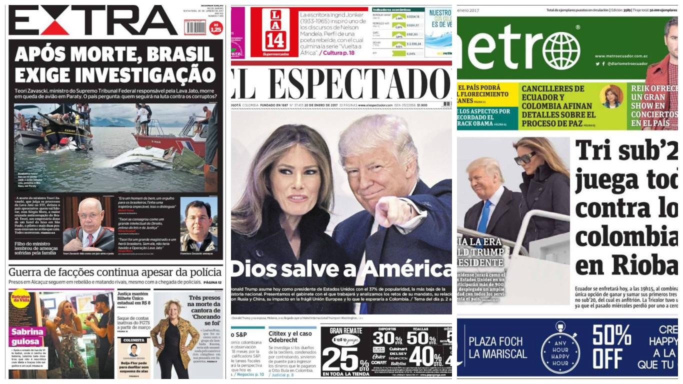 Las principales portadas del mundo: 20 de enero