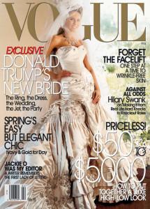 Melania salió en la portada de la revista en 2005