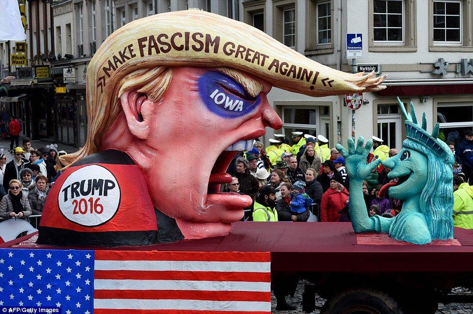 Donald Trump, la estrella de los carnavales en el mundo