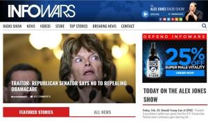 Foto: InfoWars/ El presidente Trump tomaría como referencia publicaciones de este portal