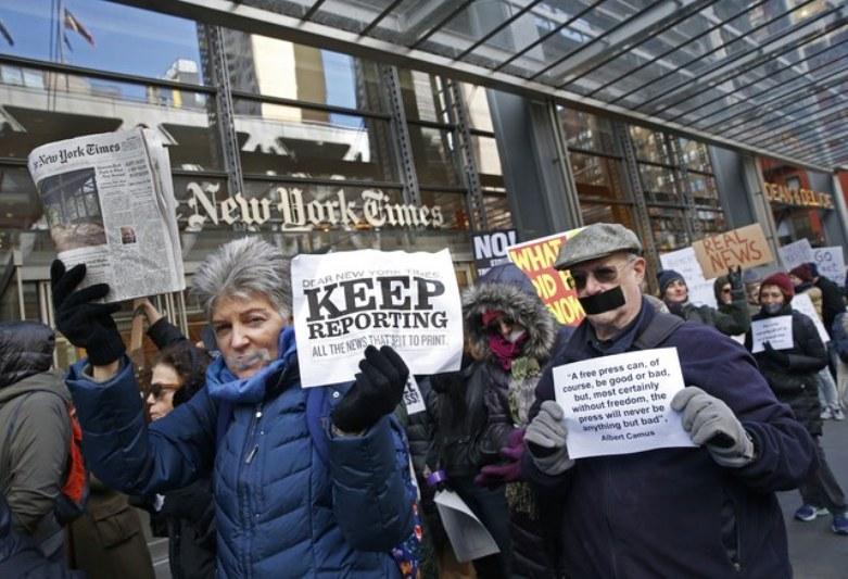 medios protesta EEUU