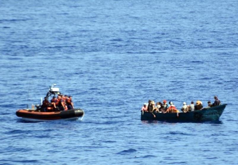 Cubanos interceptados por guardia Costera de EEUU