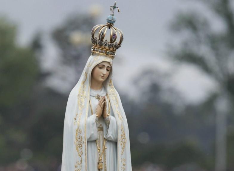 Imagen de la Virgen de Fátima en Portugal