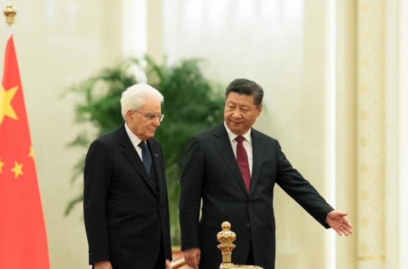 Primer Ministro Sergio Matarella y Presidente Chino Xi Jinping