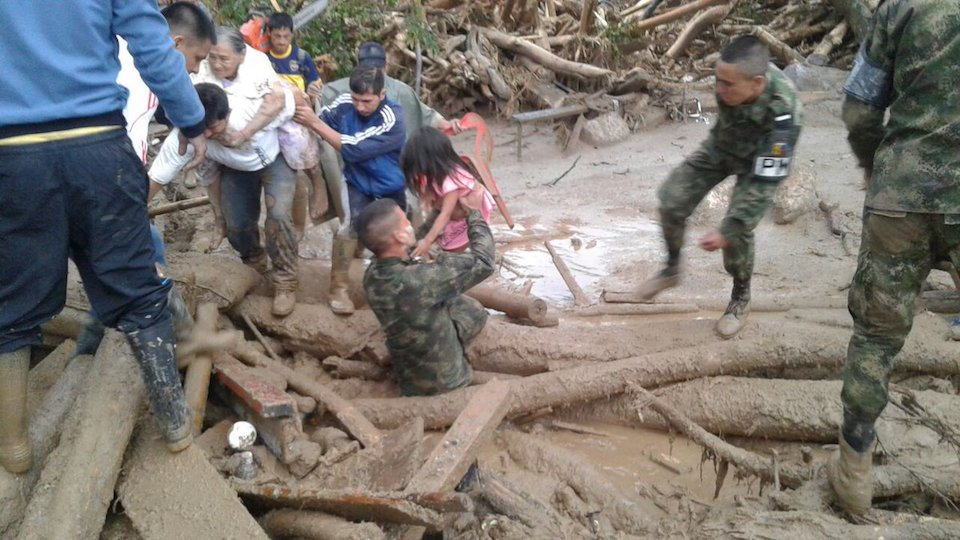 rescate en pasadas lluvias de Mocoa- Colombia-CNN