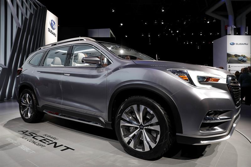 El japonés de concepto Subaru Ascent SUV se presenta durante el día de presentación a los medios en la Feria del Automóvil de Nueva York 2017 hoy, miércoles 12 de Abril de 2017, en el Centro Jacob K. Javits en Nueva York (EE.UU.)