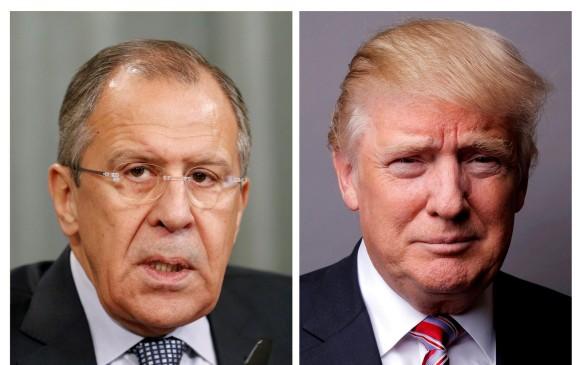Serguei Lavrov y Donald Trump