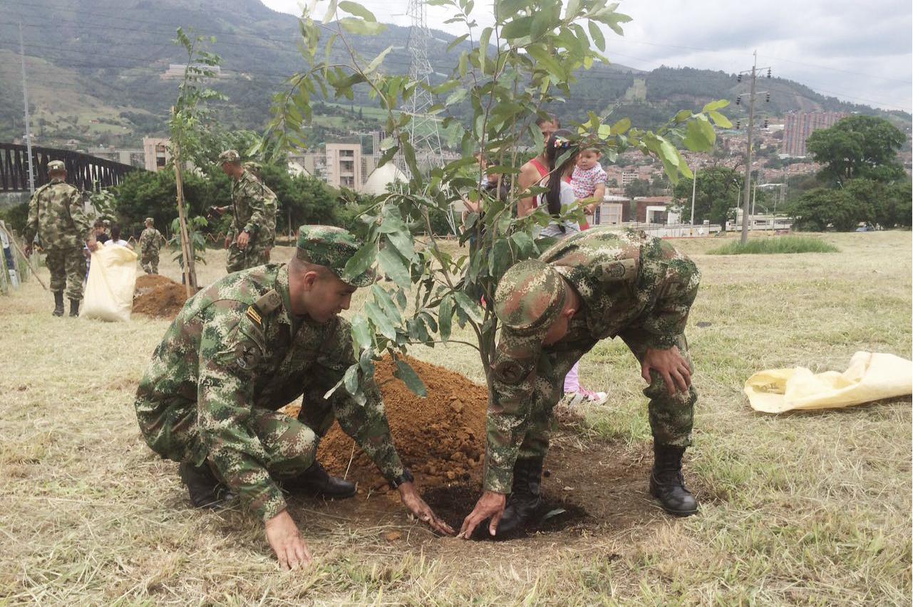 Ejercito colombiano en acción