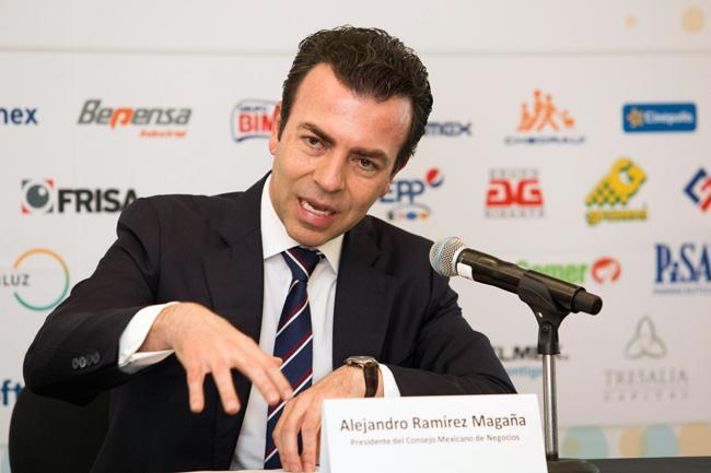 presidente del Consejo Mexicano de Negocios, Alejandro Ramírez Magañ