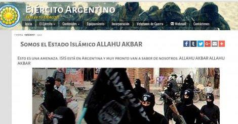 hackean página ejercito argentina