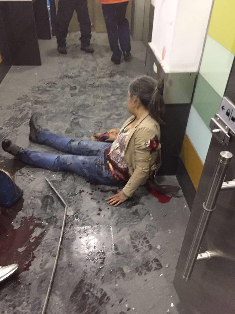 mujer herida en explosión de bogotá