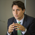 Justin Trudeau during his visit with the Toronto Star editorial board.
