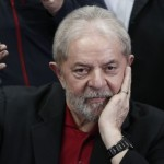 "Former Brazilian president Luiz Inacio Lula Da Silva gestures during a press conference in Sao Paulo, Brazil on July 13, 2017. Brazil's former president Luiz Inacio Lula da Silva said on Thursday -- a day after he was convicted and sentenced for graft -- that judges and political opponents were ""destroying democracy."" In his first public reaction to the verdict handed down on Wednesday, Lula implied the judgment was aimed at preventing him being a comeback candidate in presidential elections next year. ""They're destroying democracy in our country,"" he told reporters in Sao Paulo.   / AFP PHOTO / Miguel SCHINCARIOL"