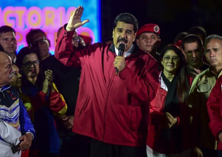 Maduro celebrando resultados de Constituyente