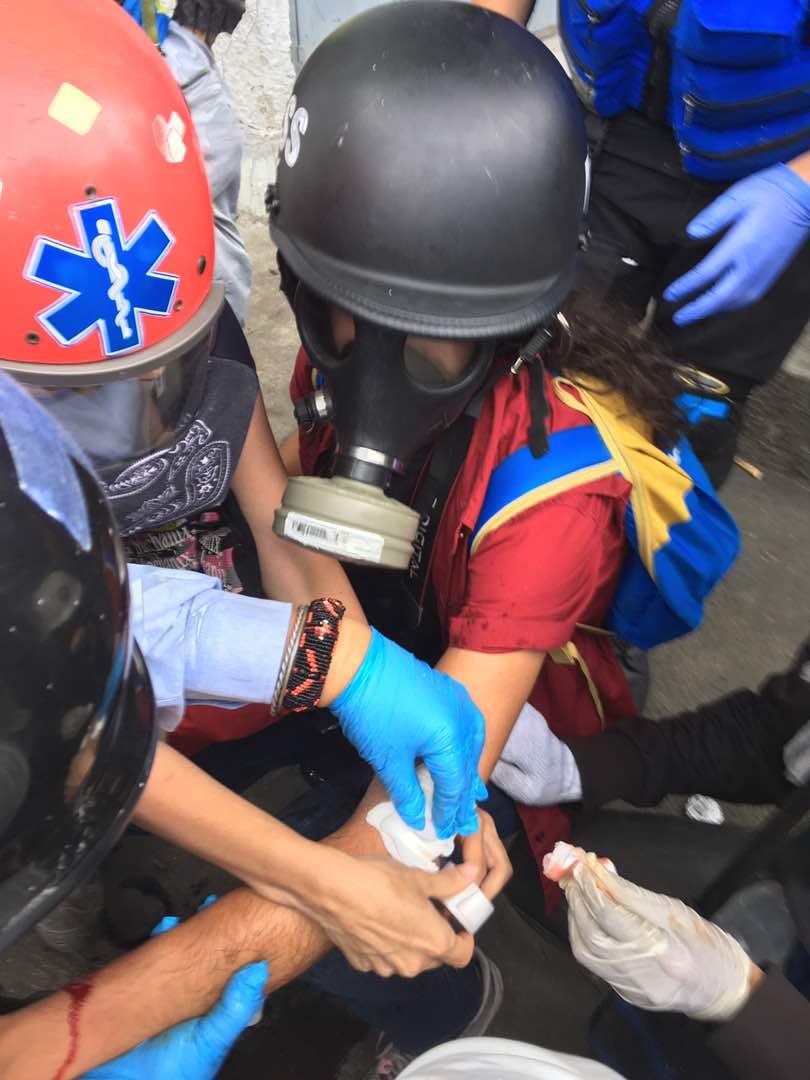 reporteros heridos