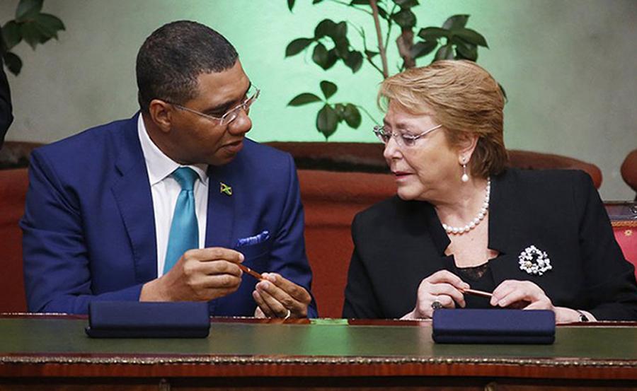 Chile-Jamaica-Bachelet