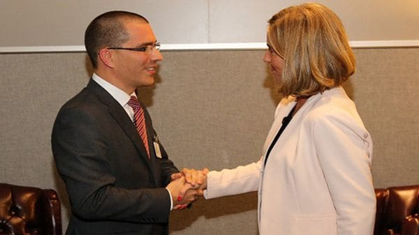 Jorge Arreaza Federica Mogherini