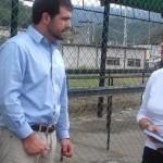 hermana del preso político Efraín Ortega