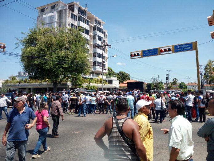 protestas en Bolívar