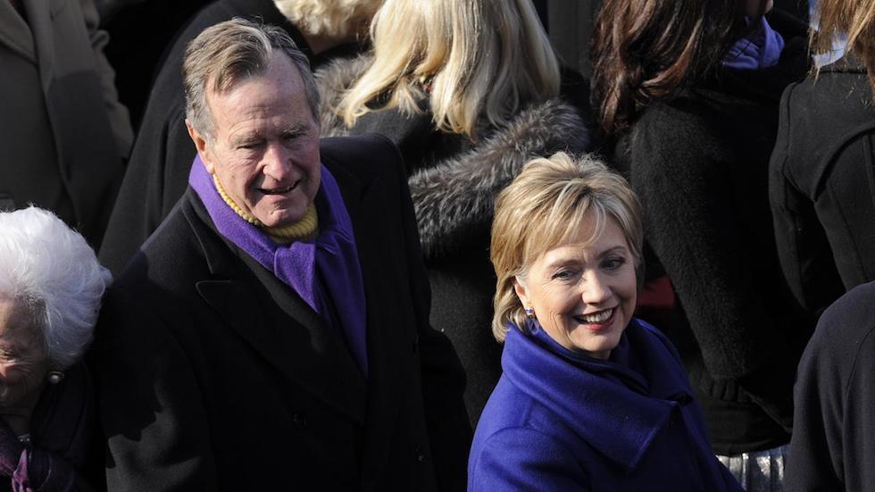 George Bush y Clinton