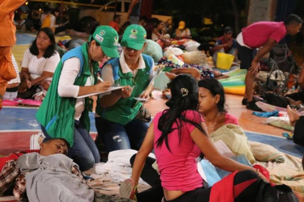 Grupo religioso en Bogotá donó alimentos a emigrantes venezolanos