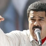 Venezuela's President Nicolas Maduro speaks during a meeting with government workers in Caracas