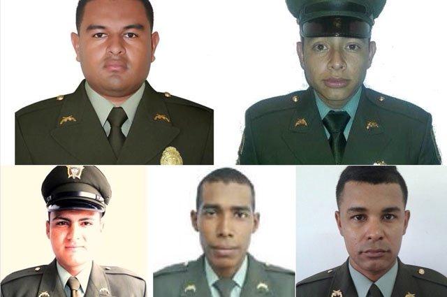Funcionarios caídos en el primer atentado. Foto Twitter