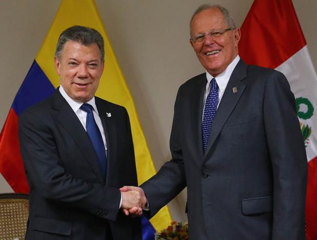 presidentes de Perú, Pedro Pablo Kuczynski, y santos