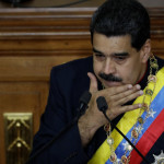Venezuela's President Nicolas Maduro gestures as he speaks during a session of the National Constituent Assembly at Palacio Federal Legislativo in Caracas