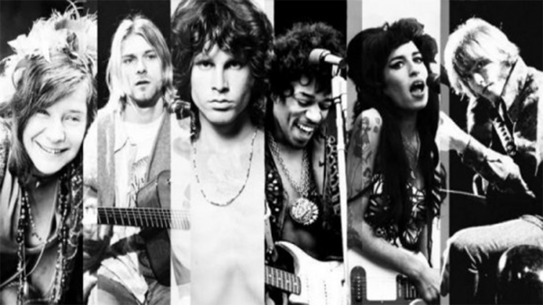 """El sombrío """"Club de los 27"""" la maldición para las estrellas del rock"""
