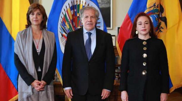 """Cancilleres de Colombia y Ecuador se reúnen con Almagro en la OEA ante """"situación fronteriza"""""""