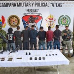 Foto: Ejército Nacional  Presuntos integrantes de la organización de alias Guacho